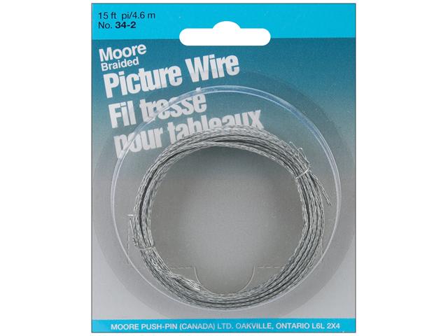 Braided Picture Wire 15 Feet/Pkg-