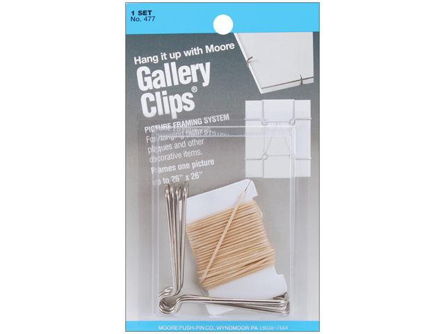 Gallery Clips Picture Framing System 1 Set/Pkg-