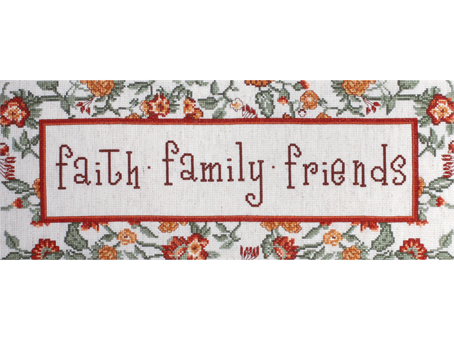 Faith, Family, Friends Counted Cross Stitch Kit-7