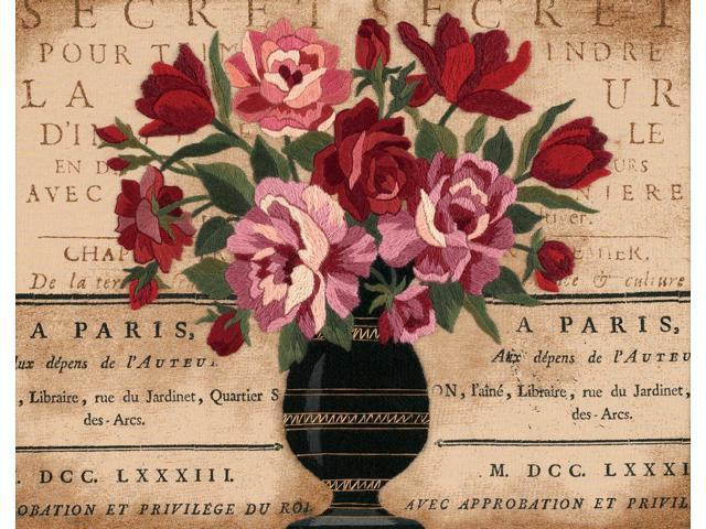 Parisian Bouquet Crewel Kit-14