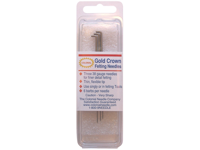 Gold Crown Felting Needles 3/Pkg-Size 38