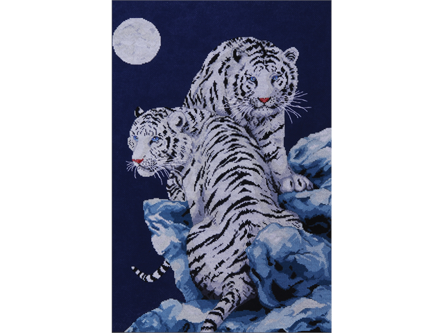 Moonlit Tigers Counted Cross Stitch Kit-16