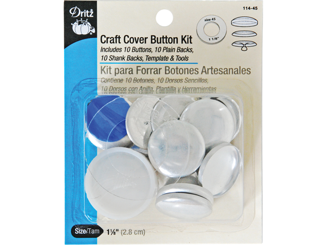 Craft Cover Button Kits-Size 45 10/Pkg