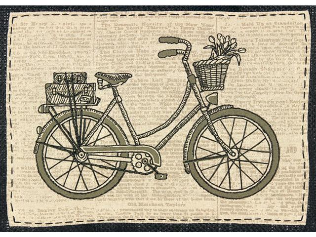 Handmade Collection Classic Bicycle Stamped Embroidery Kit-10