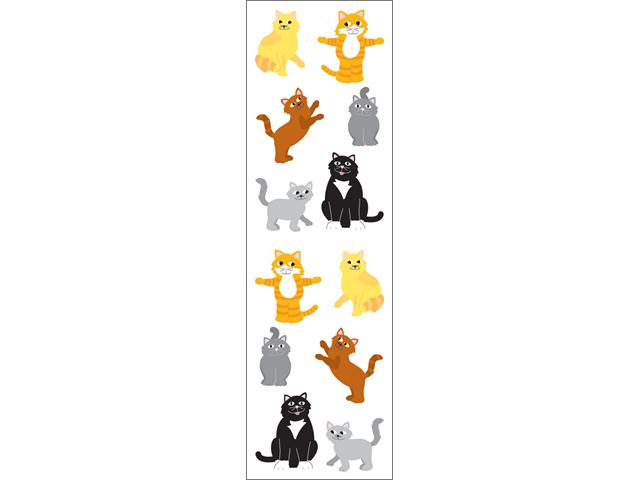 Mrs. Grossman's Stickers-Playful Cats