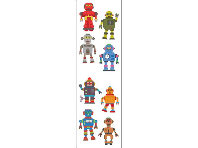 Mrs. Grossman's Stickers-Robots