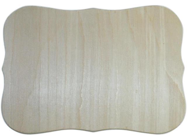 Unfinished Wood Baltic Birch Plaque 1/Pkg-Roman 7.5