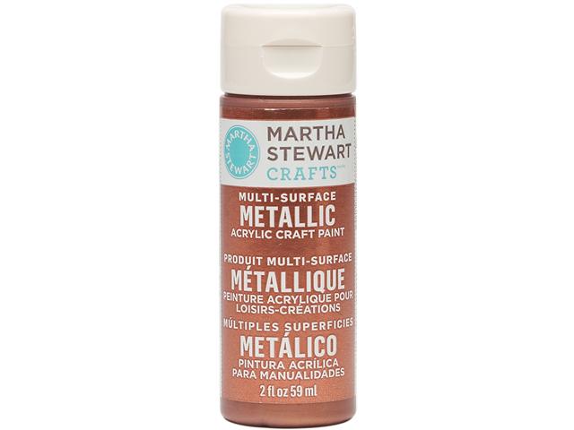 Martha Stewart Metallic Acrylic Craft Paint 2 Ounces-Rust