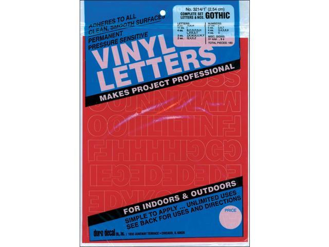 Permanent Adhesive Vinyl Letters & Numbers 1