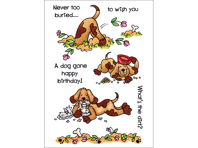 Alvin CCM008 Crafty Clear Stamp Set - Pat Bad Dog