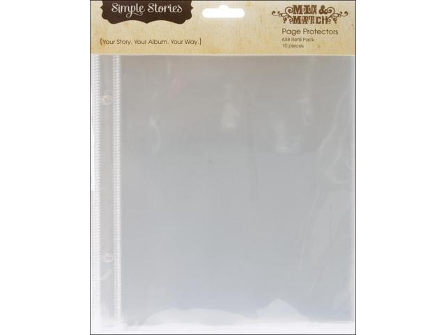 Mix & Match Sheet Protectors 10/Pkg-6x8
