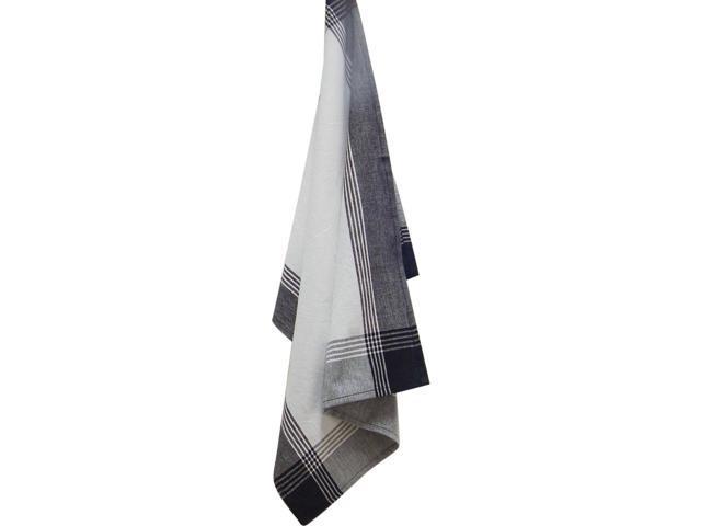 White & Black Stripe Mcleod Towel 20