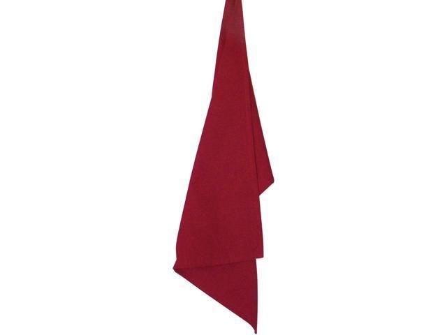 Solid Cranberry Plain Weave Towel 19