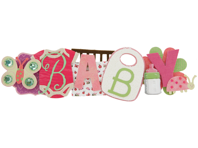 Baby Girl Stacked Statement Sticker 2.5
