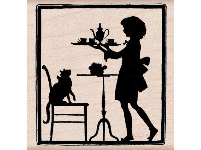 Hero Arts Mounted Stamp-Teatime Silhouette