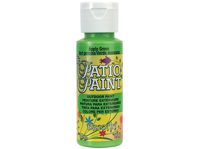 Patio Paint 2 Ounces-Apple Green