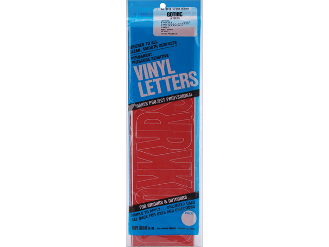 Permanent Adhesive Vinyl Letters 4
