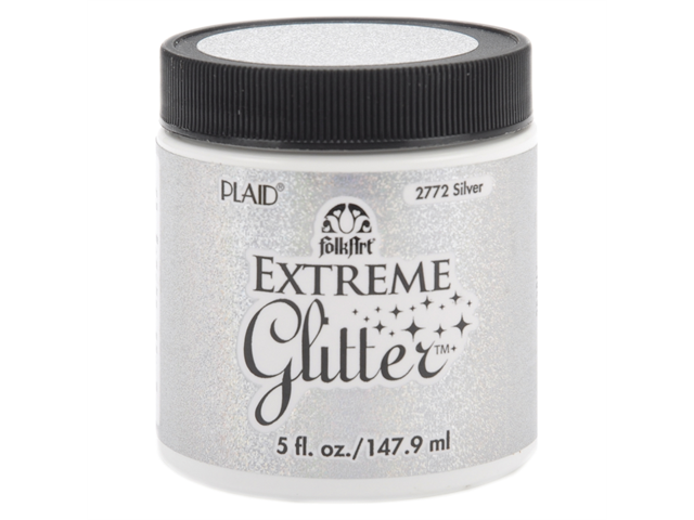 Folk Art Extreme Glitter Paint 5 Ounces-Silver