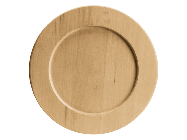 Basswood Country Plate-9-1/2