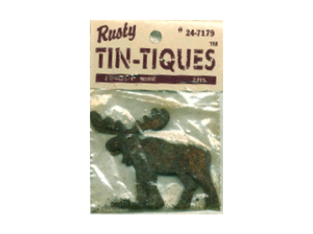 "Rusty Tin-Tiques Tin Cut-Outs-Moose 2-3/4""X2-1/4"" 2/Pkg"