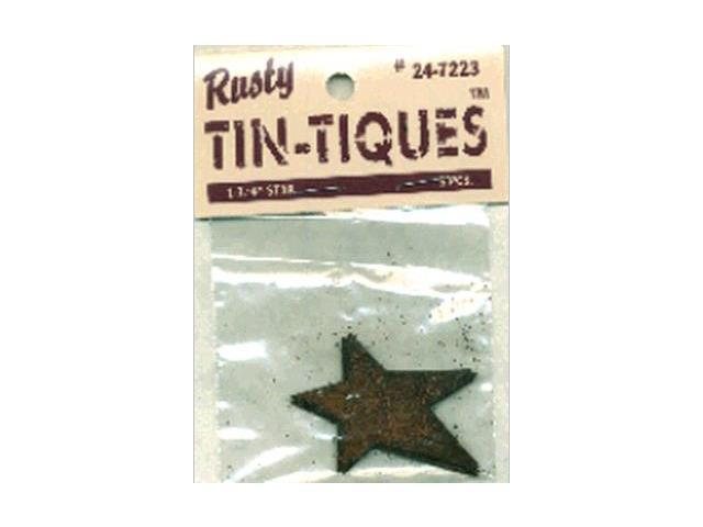 Rusty Tin-Tiques Tin Cut-Outs-Star 1-3/4
