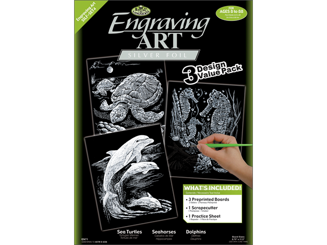 Foil Engraving Art Kit Value Pack 8-3/4