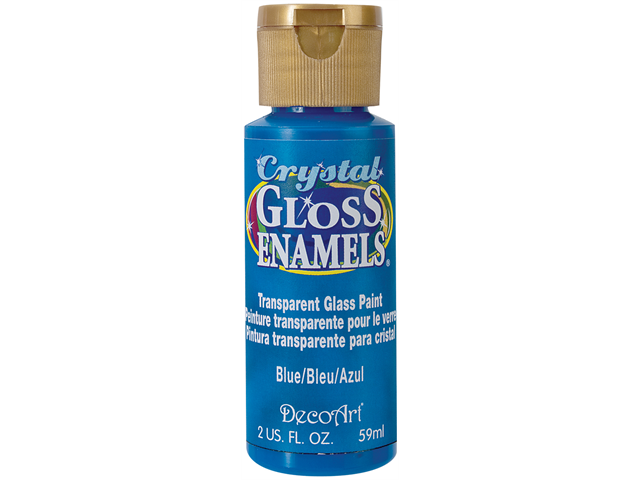 Crystal Gloss Enamels 2 Ounces-Blue