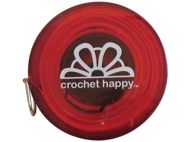 Crochet Happy Tape Measure-Red