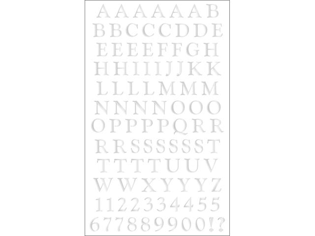 Mrs. Grossman's Stickers-Classic Alphabet Silver