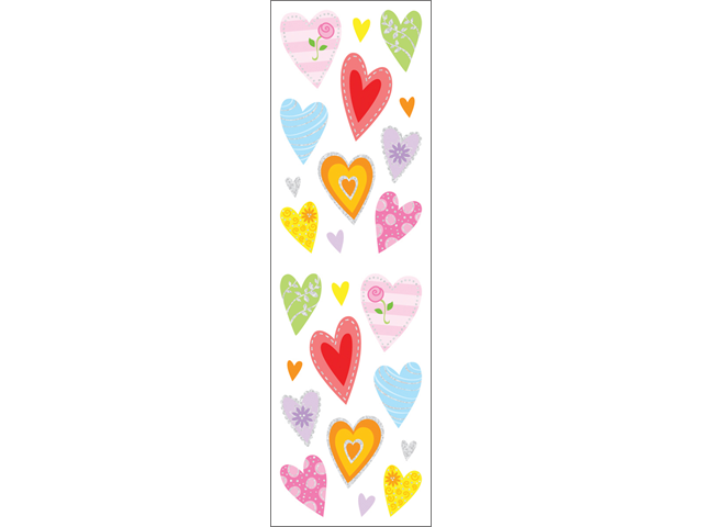 Mrs. Grossman's Stickers-Delightful Hearts