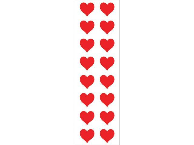 Mrs. Grossman's Stickers-Red Hearts Small