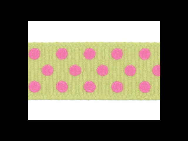 Clear Confetti Dots Ribbon 5/8
