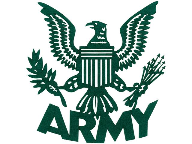 Cardstock Laser Die-Cuts-Army