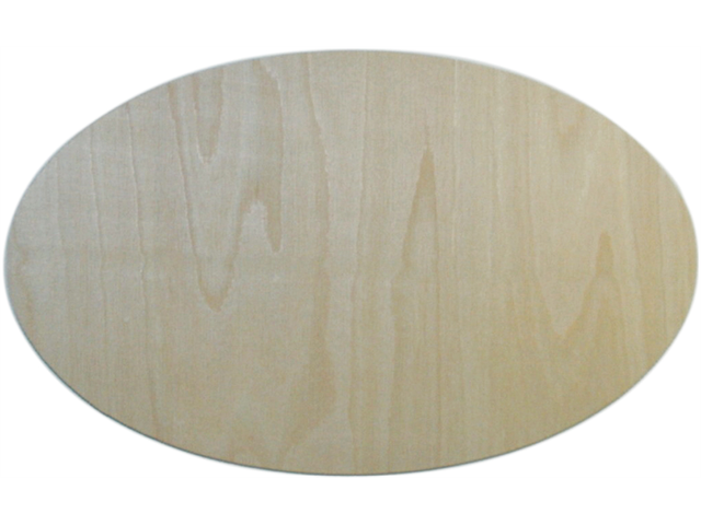 Unfinished Wood Baltic Birch Plaque 1/Pkg-Oval 7.75