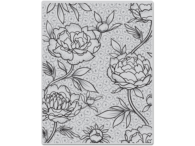 Hero Arts Cling Stamps-Large Flower Background