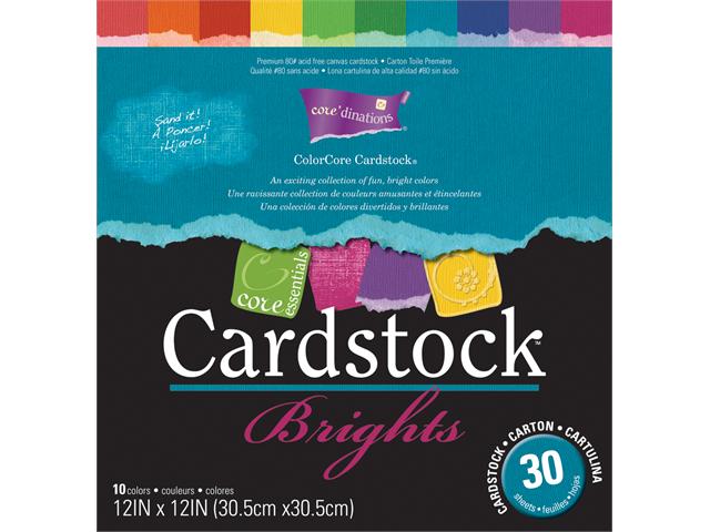 Core Essentials Cardstock 10 Color, 12