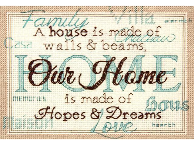 Home Mini Counted Cross Stitch Kit-7