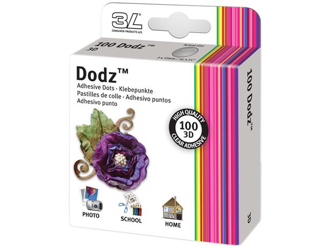 Dodz Adhesive Dot Rolls-3d, 1/16
