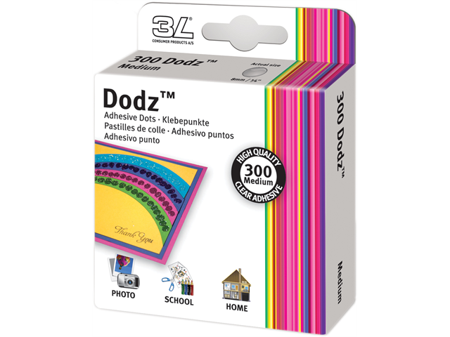Dodz Adhesive Dot Rolls-Medium, 3/8