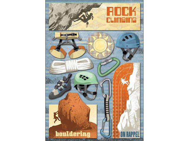 Rock Climbing Cardstock Stickers 5.5