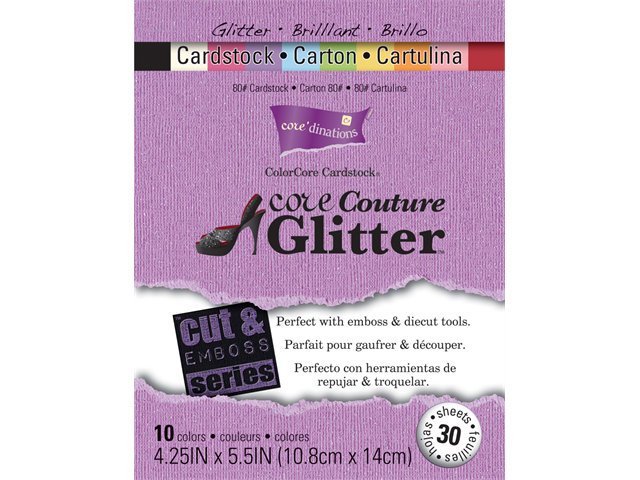 Core'dinations Cut & Emboss Series Cardstock 4.25x5.5 30/Pkg-Core Couture