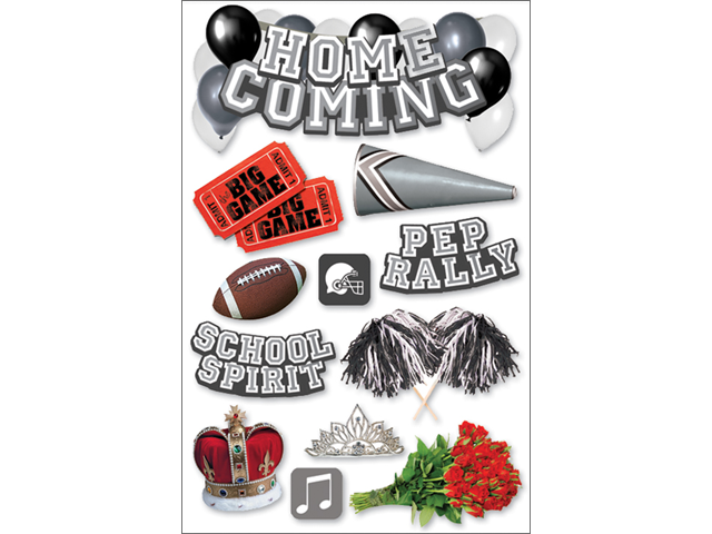 Paper House 3-D Sticker-Homecoming