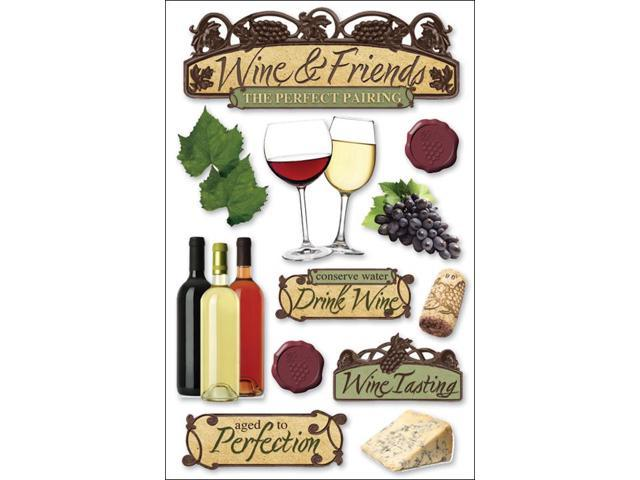 Paper House 3-D Sticker-Wine