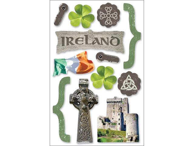 Paper House 3-D Sticker-Ireland