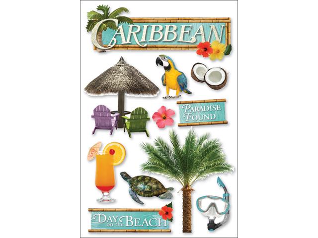 Paper House 3-D Sticker-Caribbean