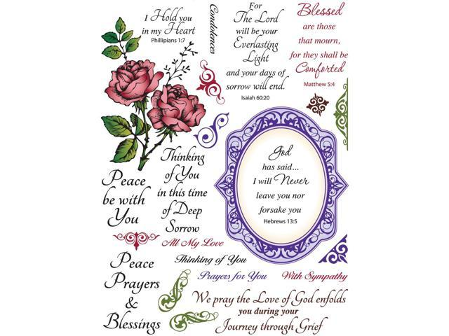 Justrite CR03570 JustRite Stampers 6 in. X8 in.  Clear Stamp Set-With Sympathy 23pc
