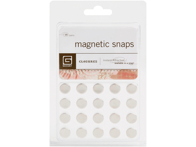 Magnetic Snaps 10/Pkg-Small 3.8