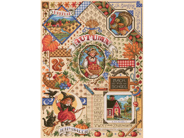 Autumn Sampler Counted Cross Stitch Kit-14