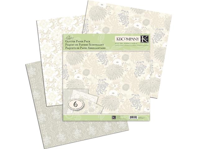 Elegance Glitter Paper Pack 12