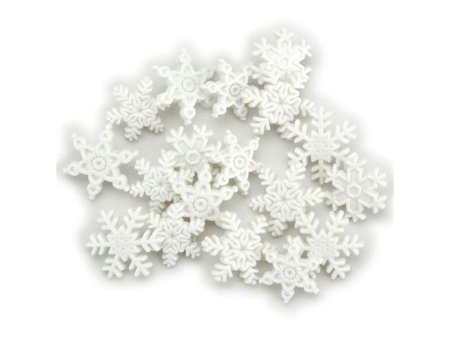 Holiday Dress It Up Embellishments-Snow